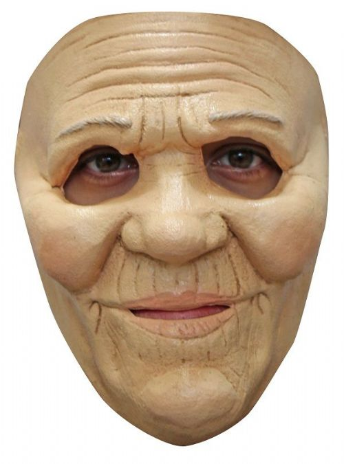 Mrs Smith Face Mask Old Lady Halloween Fancy Dress Cosplay